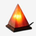 Himalayan Salt Lamp Pyramid With Wood Base