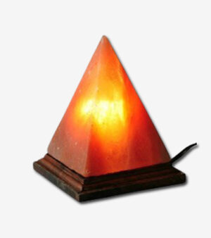 Himalayan Salt Lamp Pyramid With Wood Base