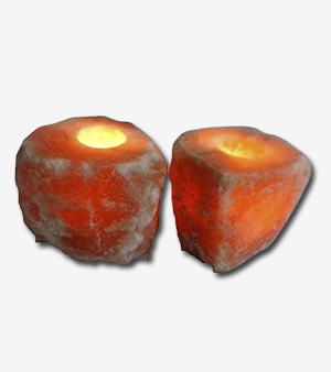 Himalayan Online Salt Tea Light Candle Holders Pack Of 2