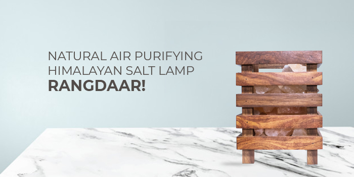 Natural air purifying himalayan salt lamp - Rangdaar!