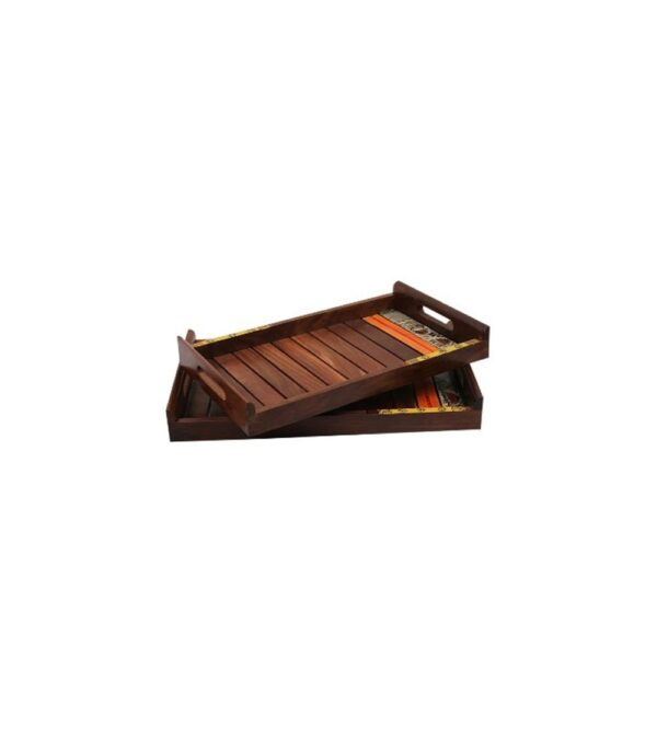 Wooden tray set of two pcs