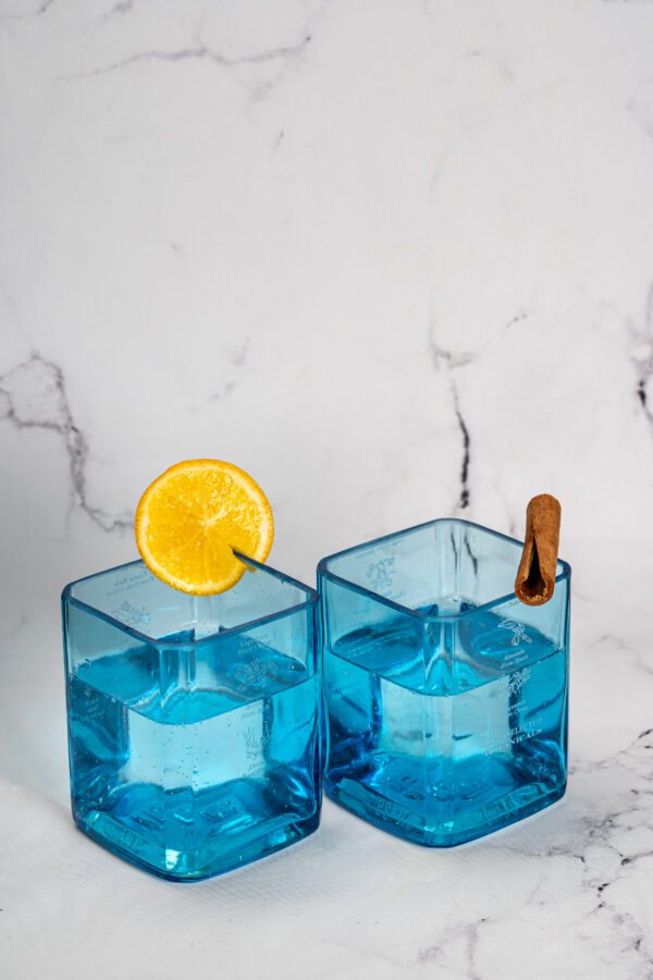 Hand crafted drinking Glasses made from Bottles