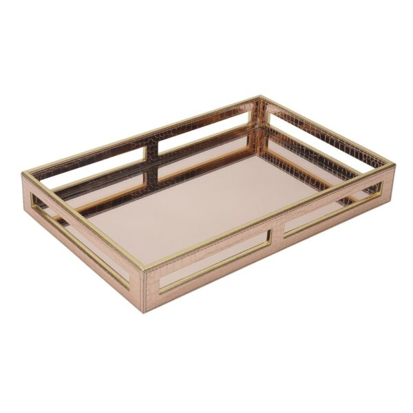 Rose Gold Glass Tray