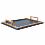 Royal Blue & Gold Rectangular Tray